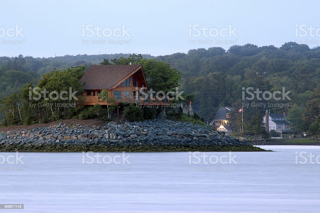 Island Home royalty-free stock photo