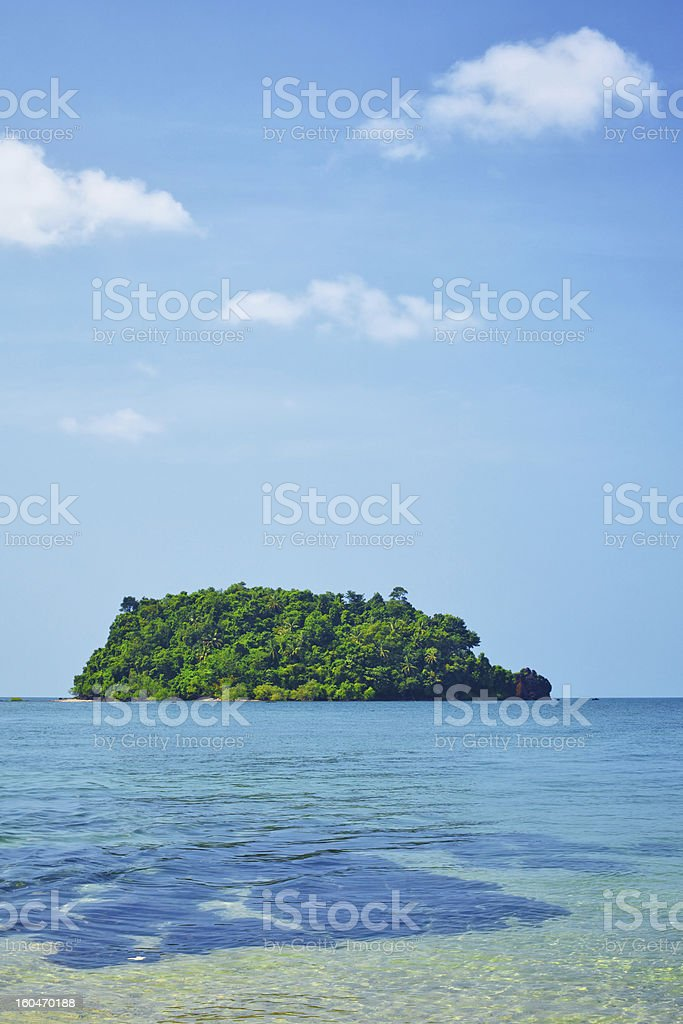 Island in a Sea royalty-free stock photo