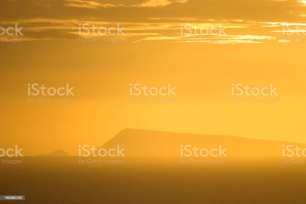 Island in a Sunlit Sea stock photo