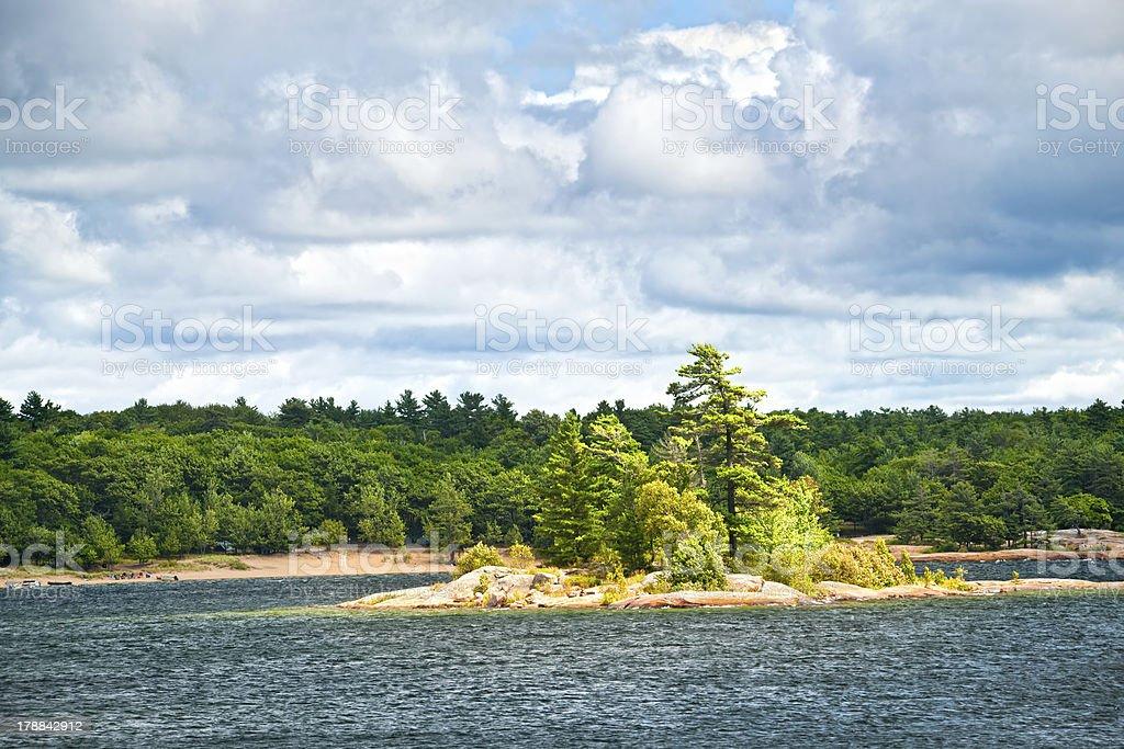 Island in Georgian Bay royalty-free stock photo