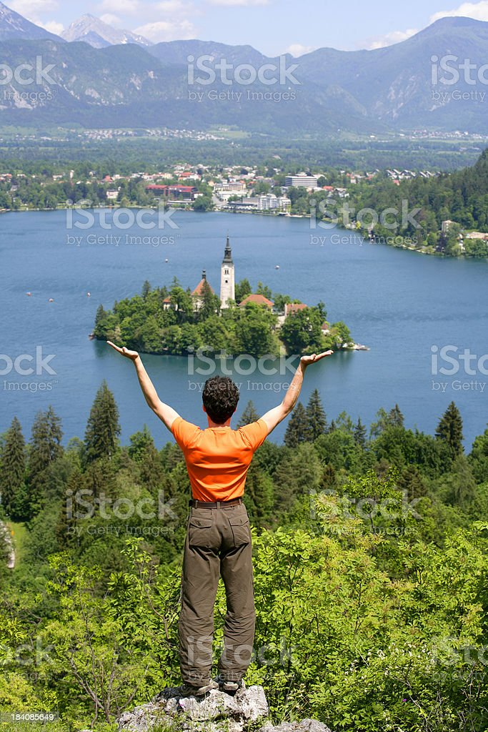 Island in hands royalty-free stock photo