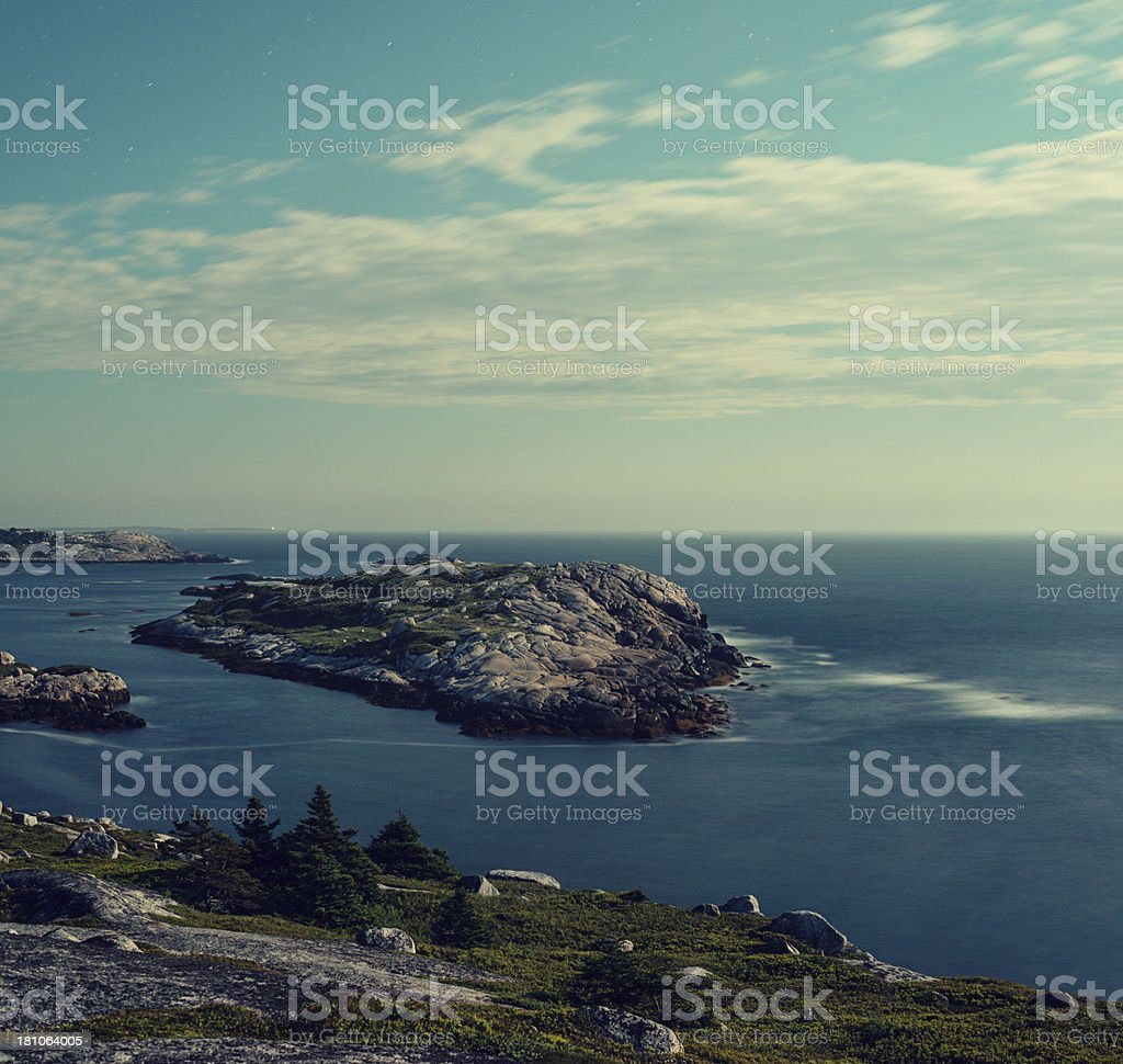 Island in Moonlight royalty-free stock photo