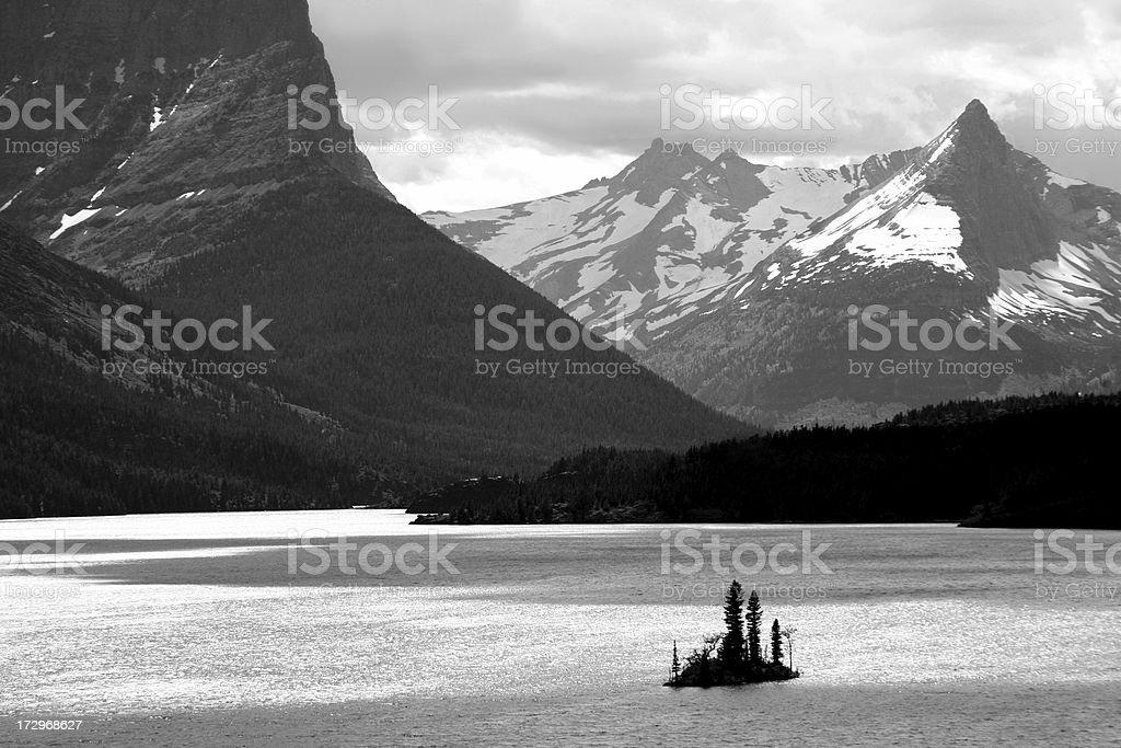 Island in Mountain Lake royalty-free stock photo