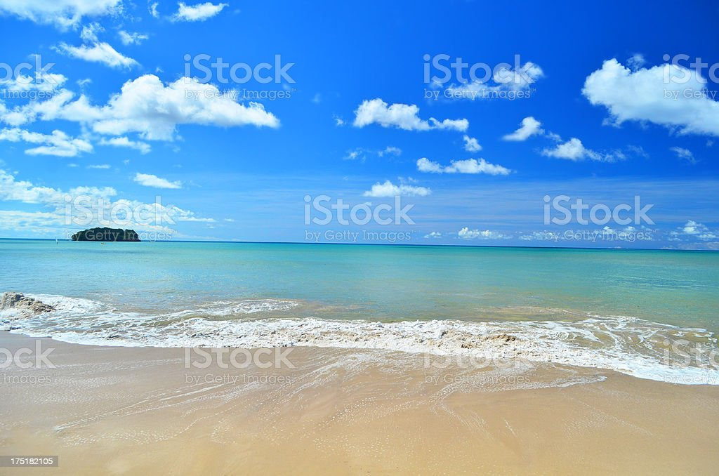 island in paradise stock photo