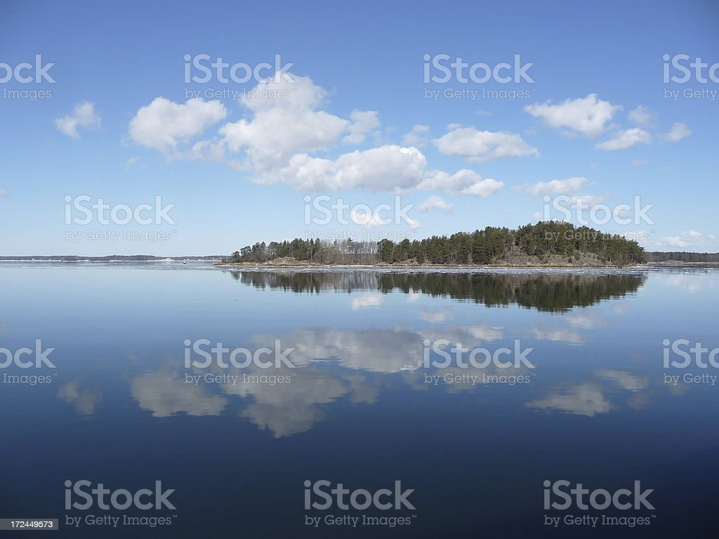 Island in Stockholm's Archipelago, Sweden royalty-free stock photo