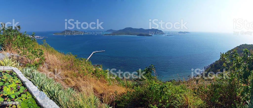 Island in Thai gulf stock photo