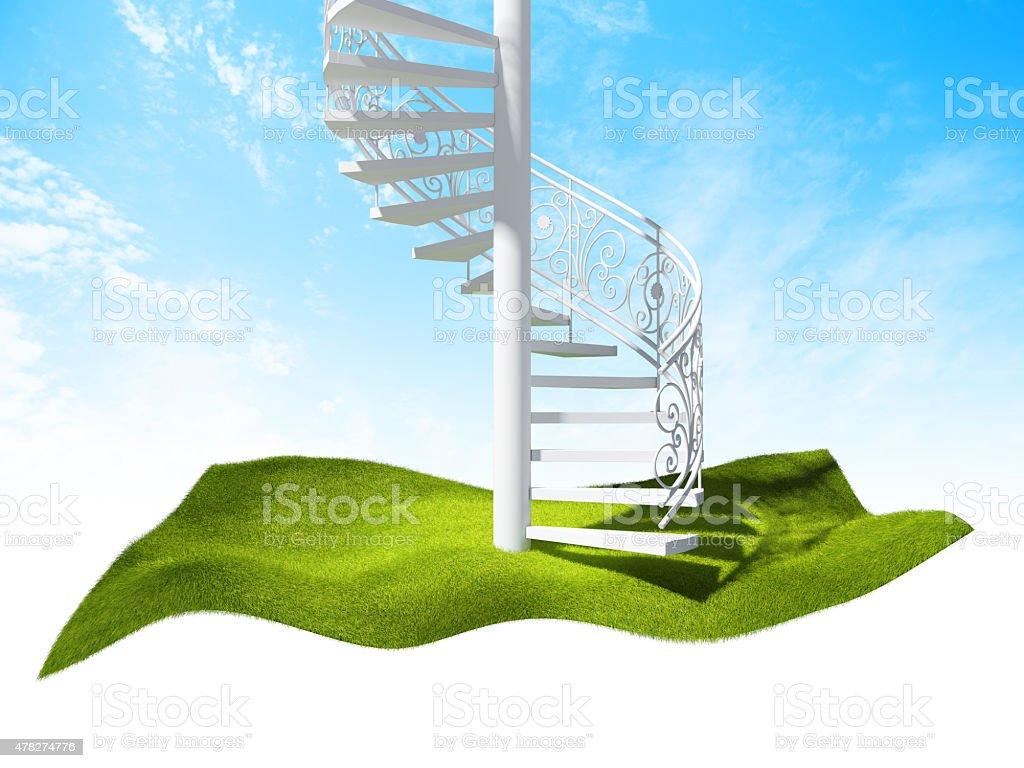 Île de l'air et escaliers photo libre de droits