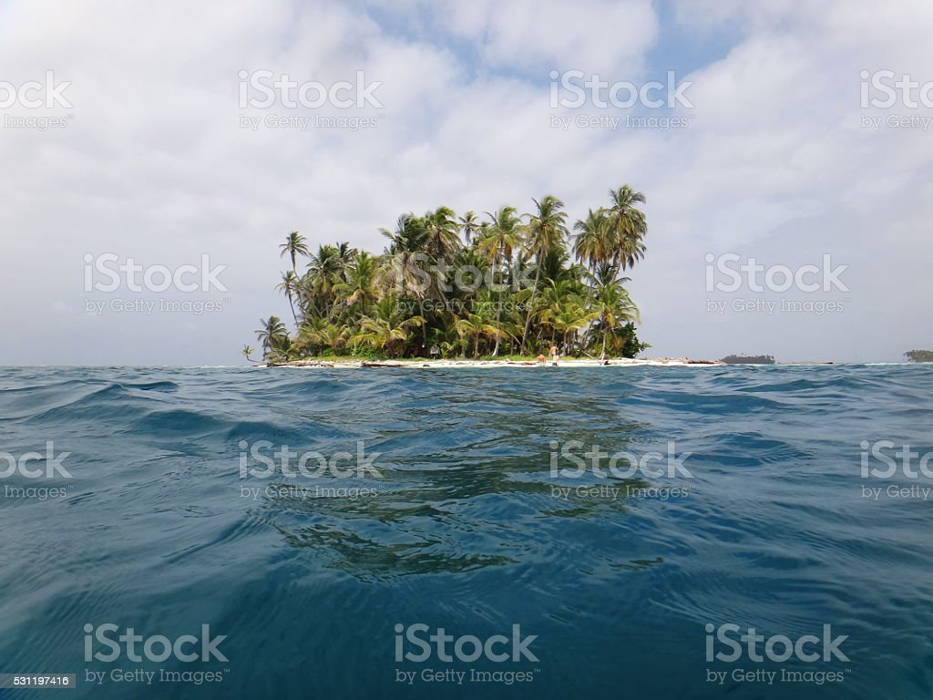 Island in the archipelago of San Blas, Panama stock photo