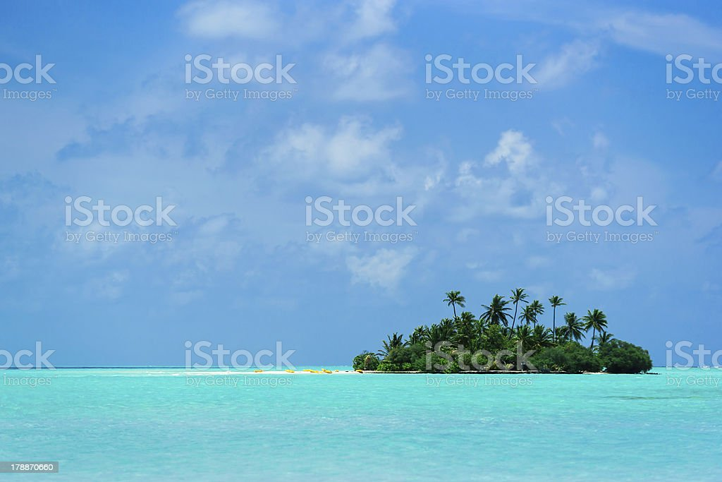 Island in the Indian ocean. Maldives royalty-free stock photo