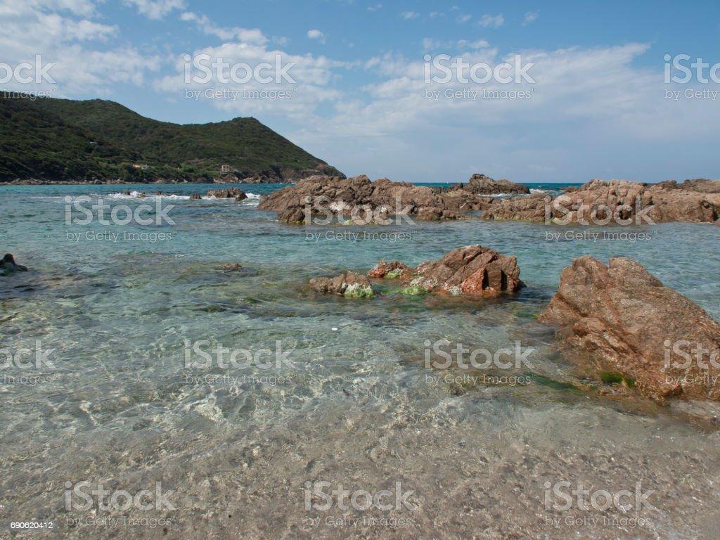 island in the mediterranean sea stock photo