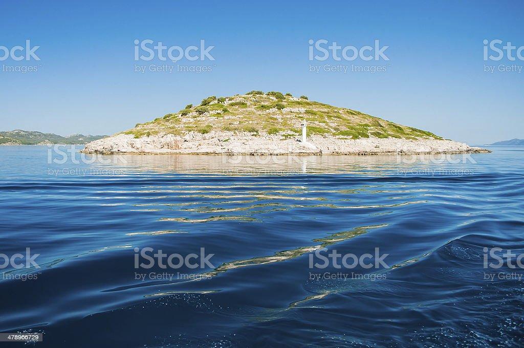 Island in the sea, Kornati National Park, Croatia royalty-free stock photo