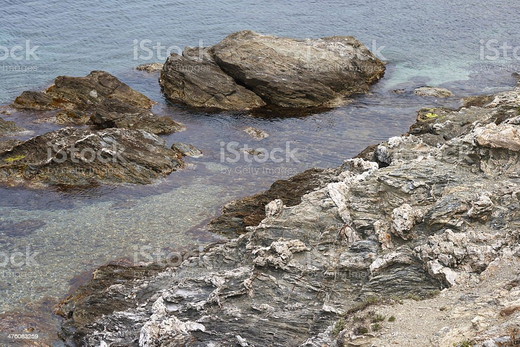 island in the sea royalty-free stock photo