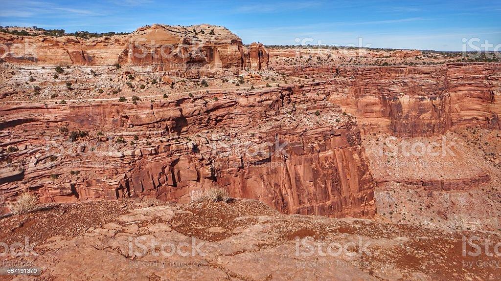 Island In the Sky, Canyonlands National Park Canyon, Utah stock photo