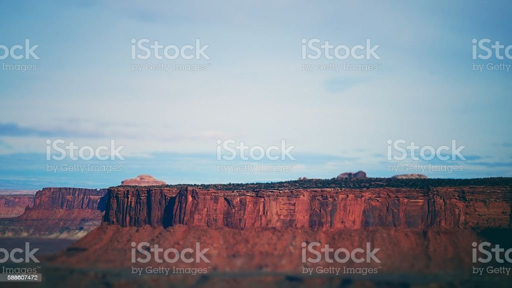Island In the Sky Mesa Bluff, Landscape, Junction Butte, Canyonlands stock photo