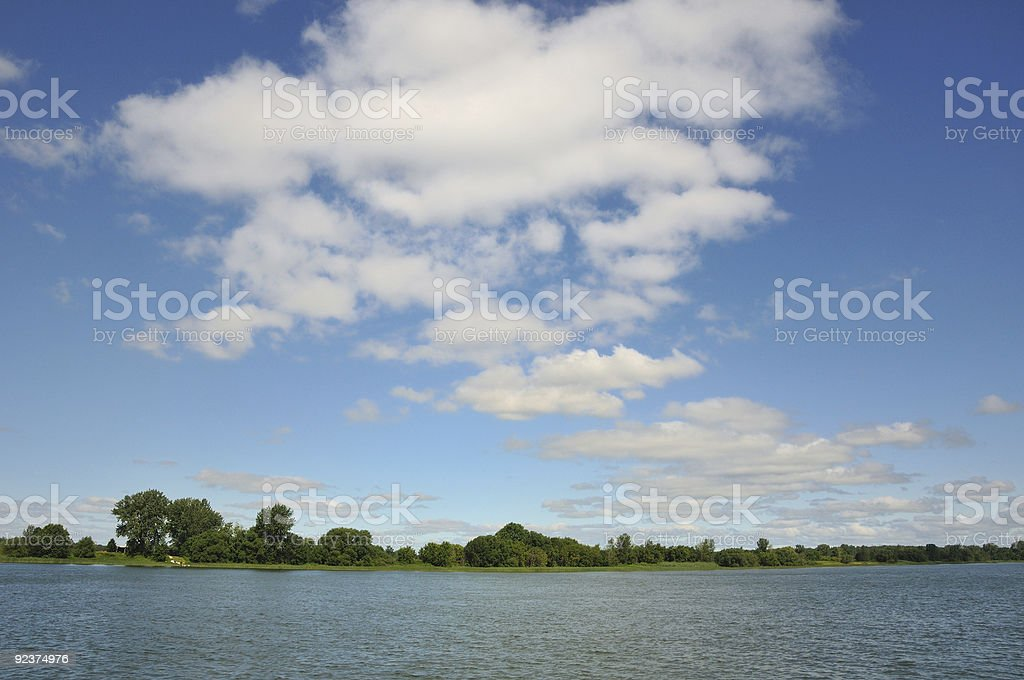 Island in the St.Lawrence River royalty-free stock photo