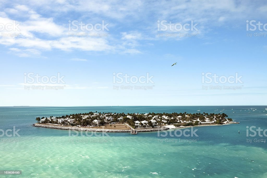 Island In The Turquoise Caribean Sea Near Cozumel, Mexico stock photo