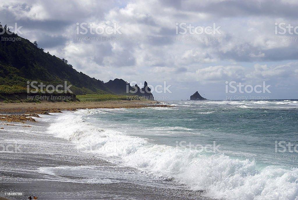 island Kunashir. Kurily royalty-free stock photo
