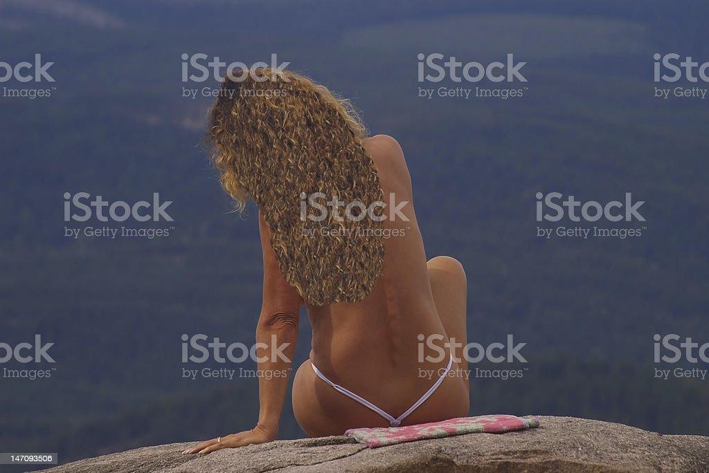 Island Lady stock photo