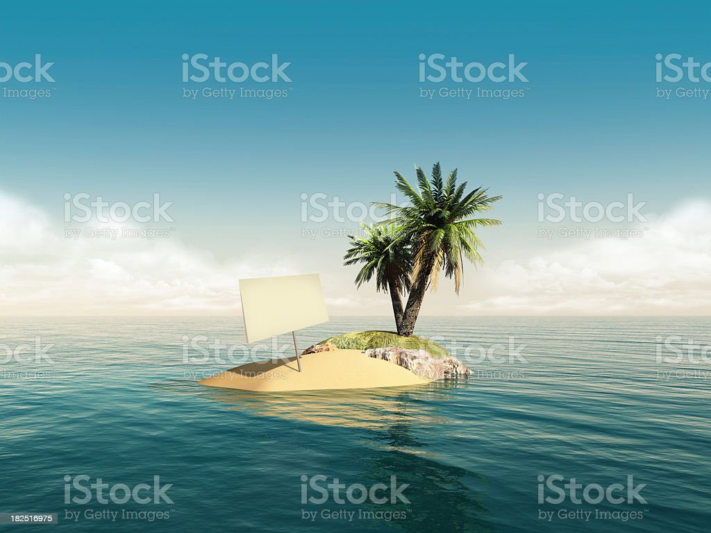 island message sign royalty-free stock photo