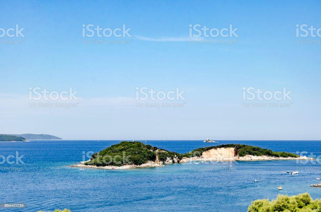 island of beautiful sea stock photo
