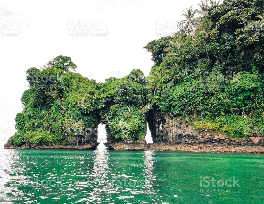 Island of birds. Bocas del Toro stock photo