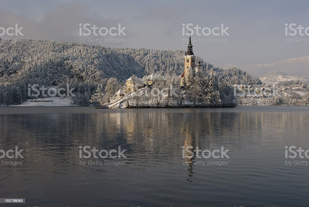 Island of Bled royalty-free stock photo