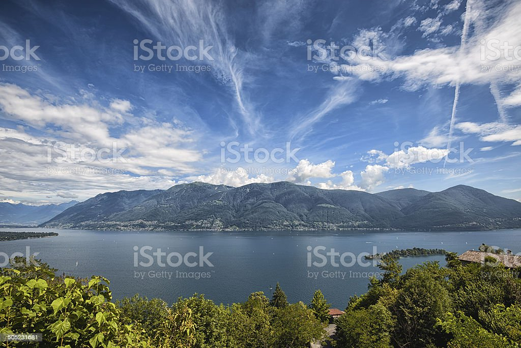 Island of Brissago, Lake Maggiore Switzerland stock photo