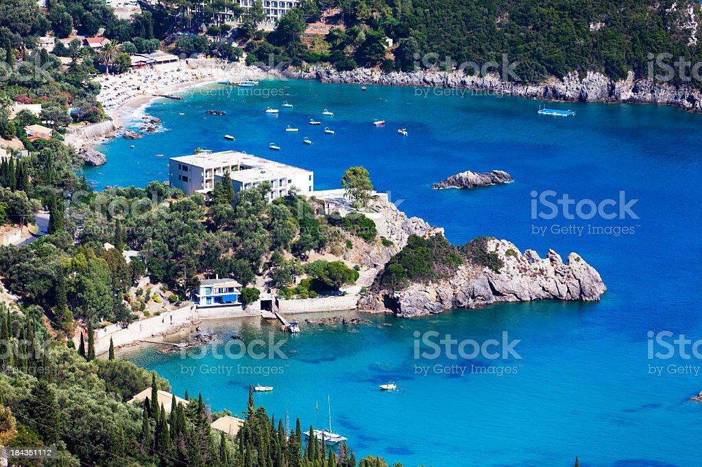 Island of Corfu, Paleokastritsa royalty-free stock photo