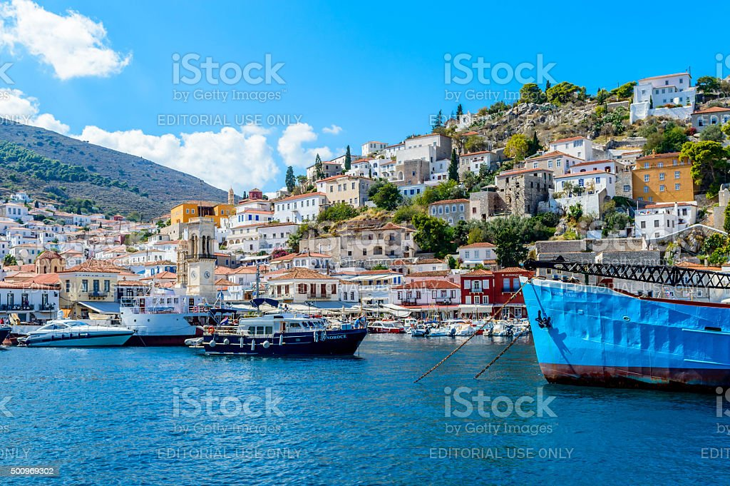 Island of Hydra stock photo