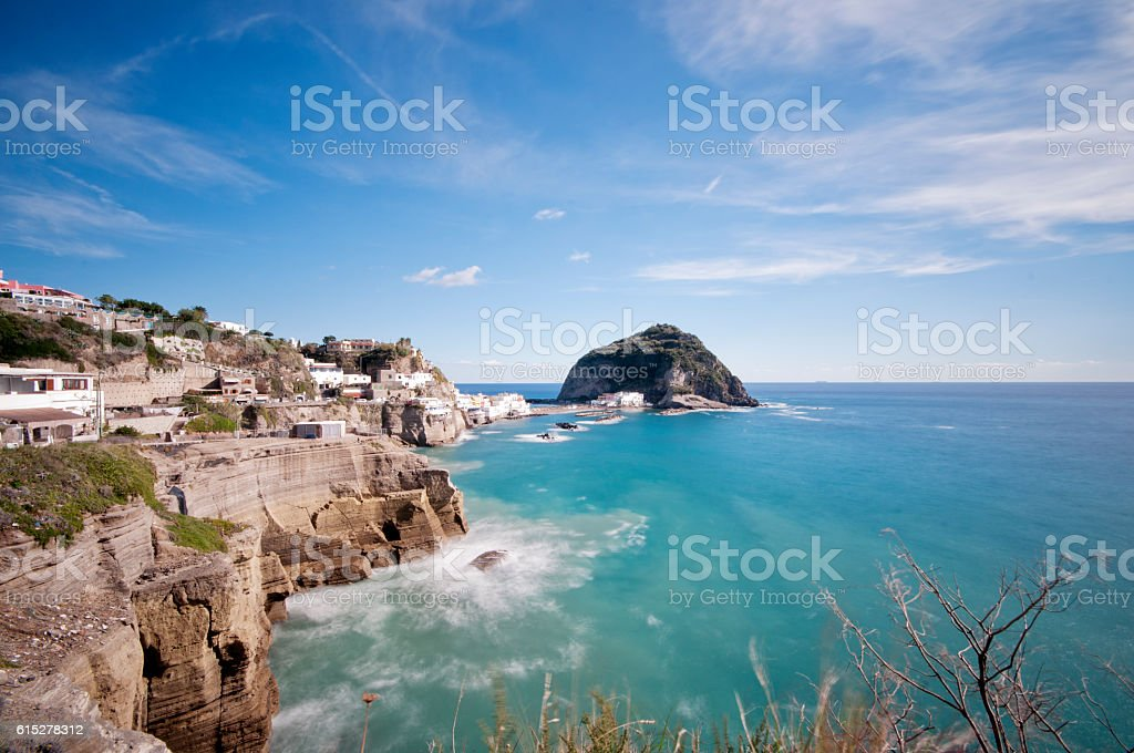 Island of Ischia Sant'angelo stock photo