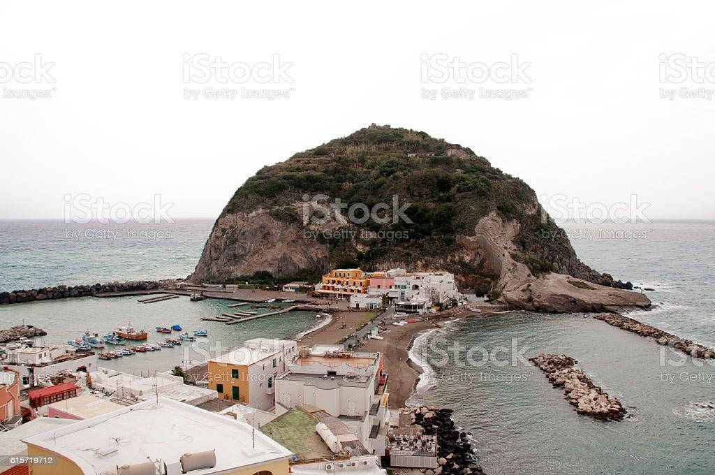 Island of Ischia Sant'angelo stock photo