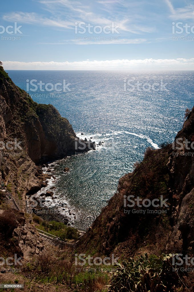 Island of Ischia, terme di Sorgeto stock photo