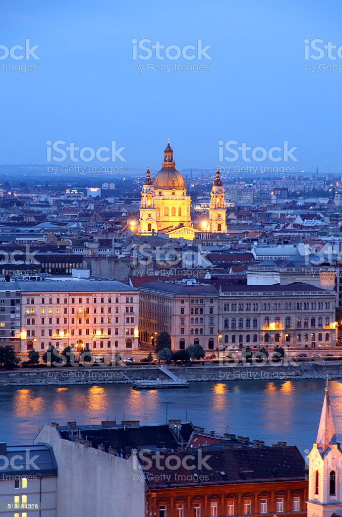 Island of Light by the Danube stock photo