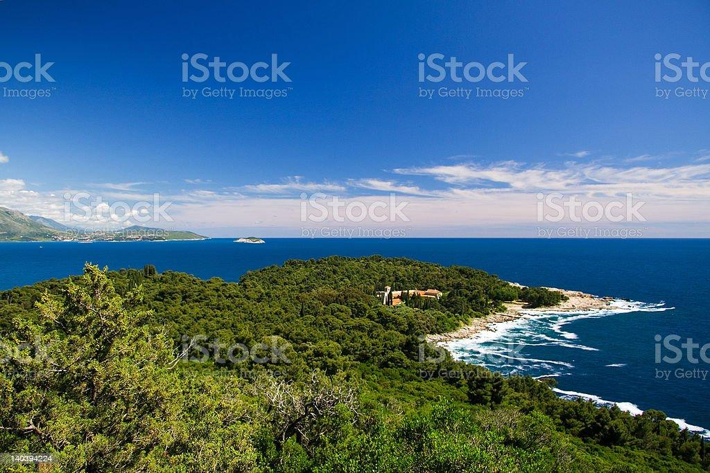 Island of Lokrum stock photo
