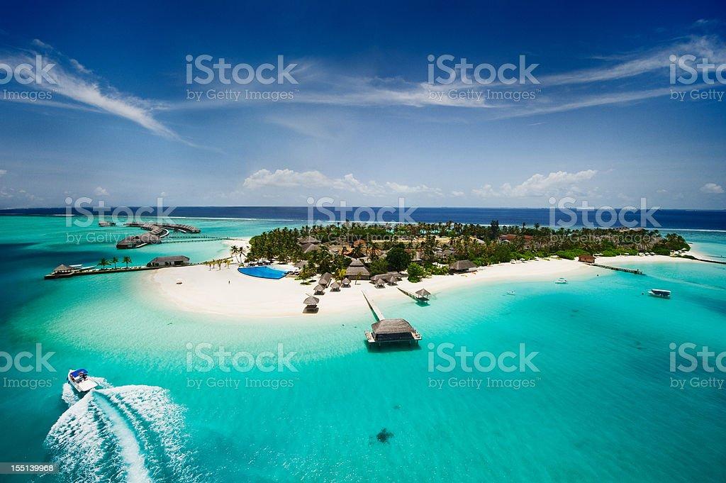 Island of Maldives stock photo
