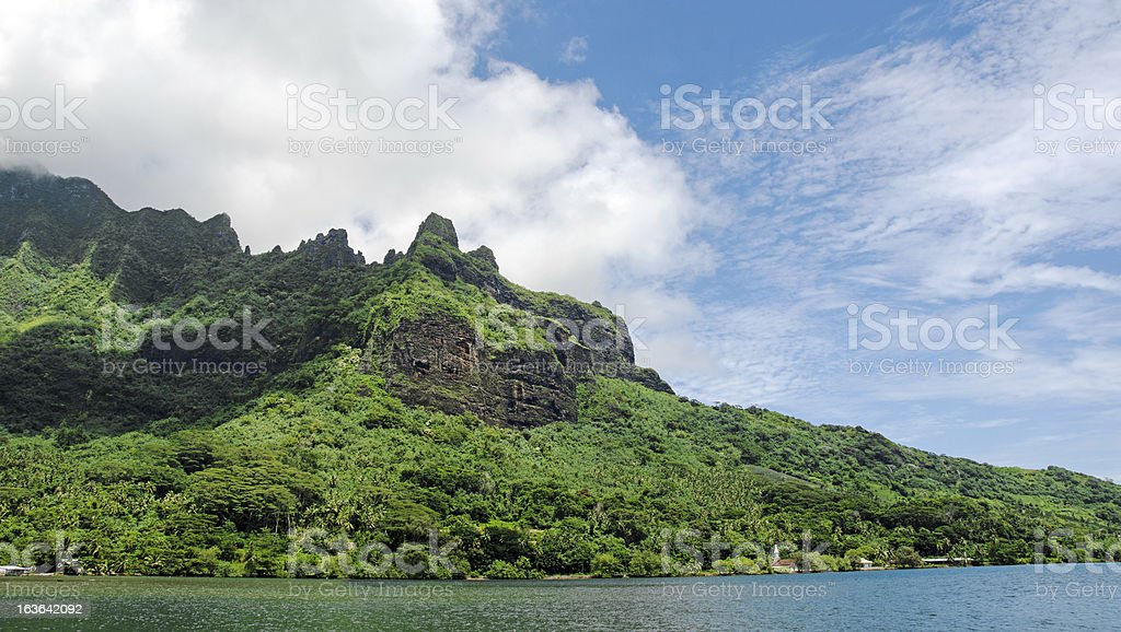 Island of Moorea featuring Cooks Bay. royalty-free stock photo