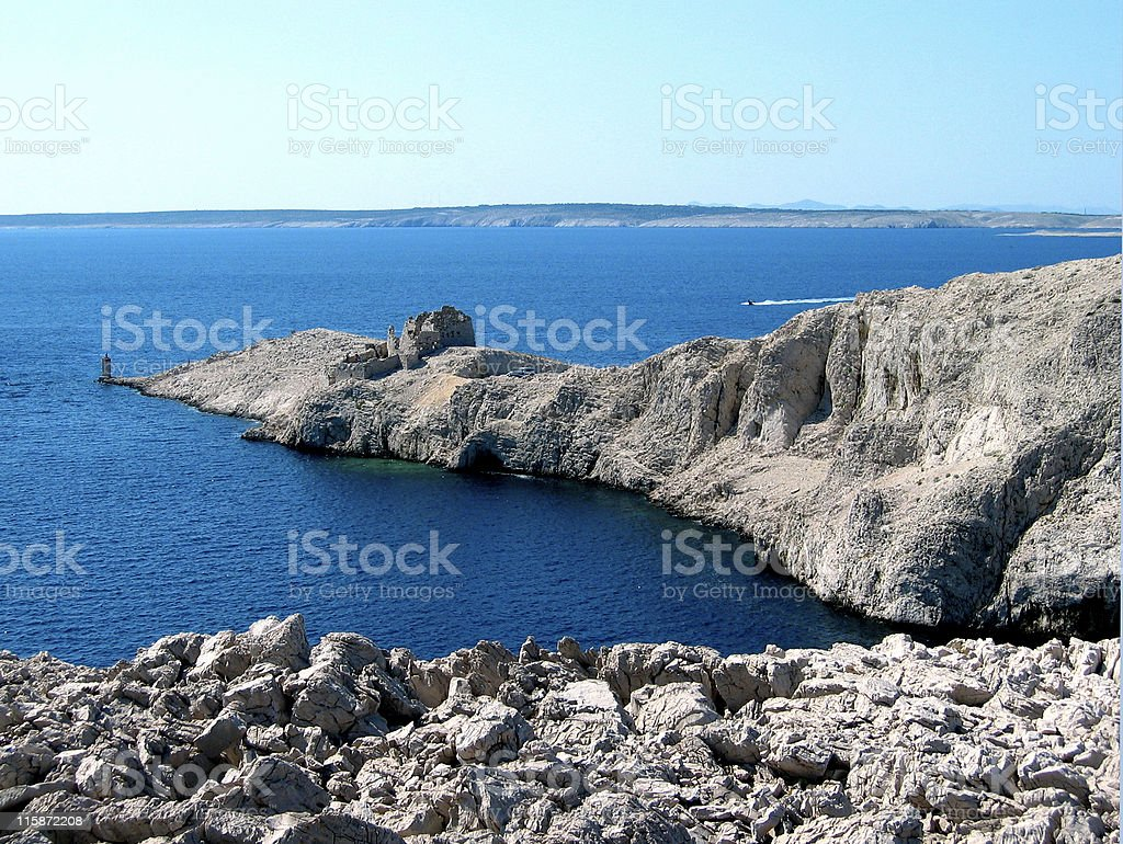 Island of Pag royalty-free stock photo