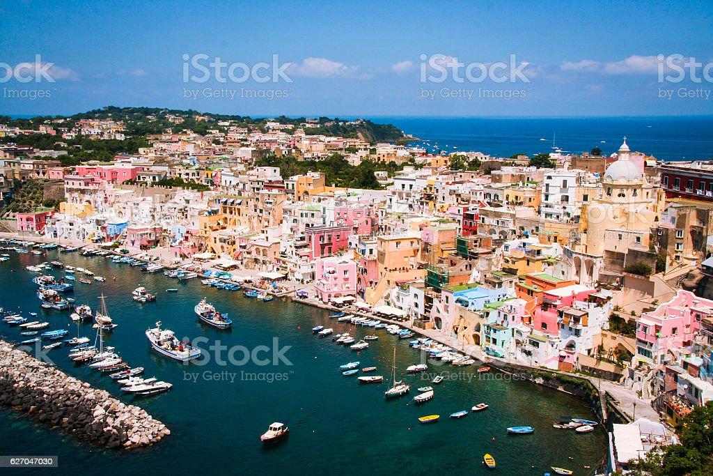 Island of Procida, Corricella stock photo