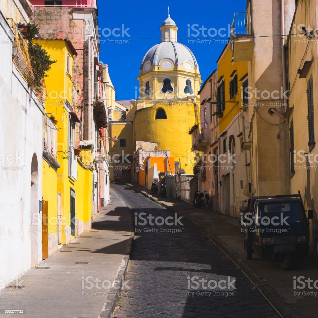 Island of Procida, Naples, Italy stock photo
