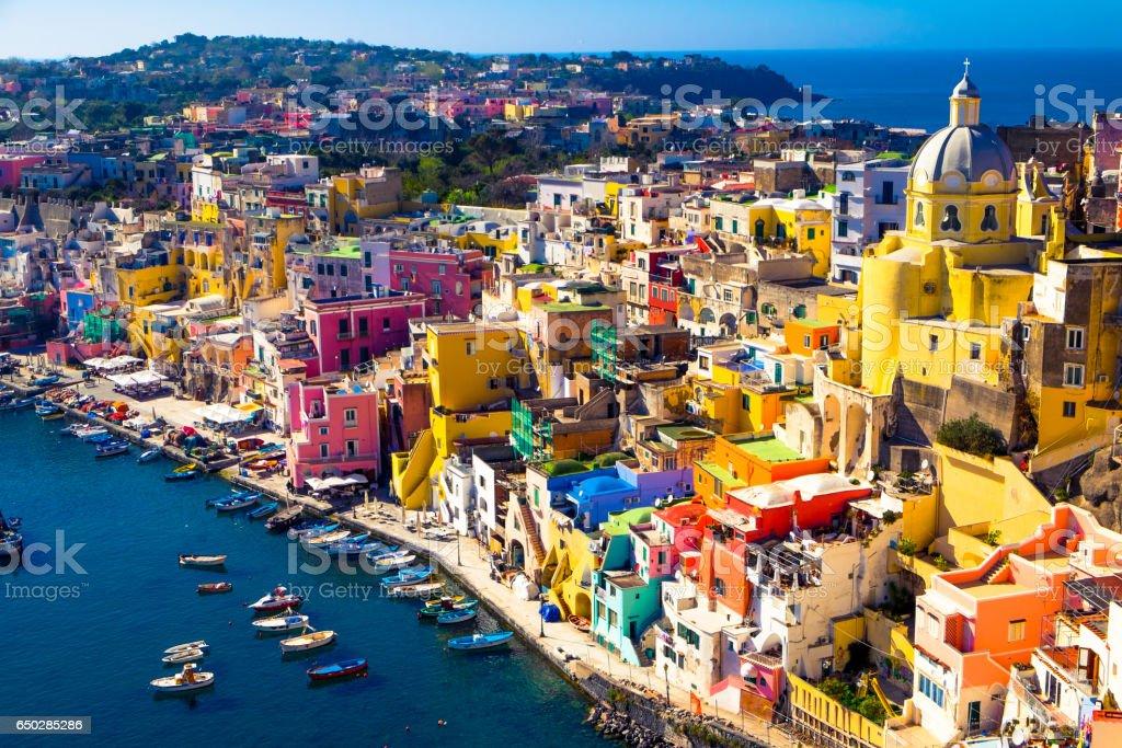 Island of Procida, Naples, Italy stock photo