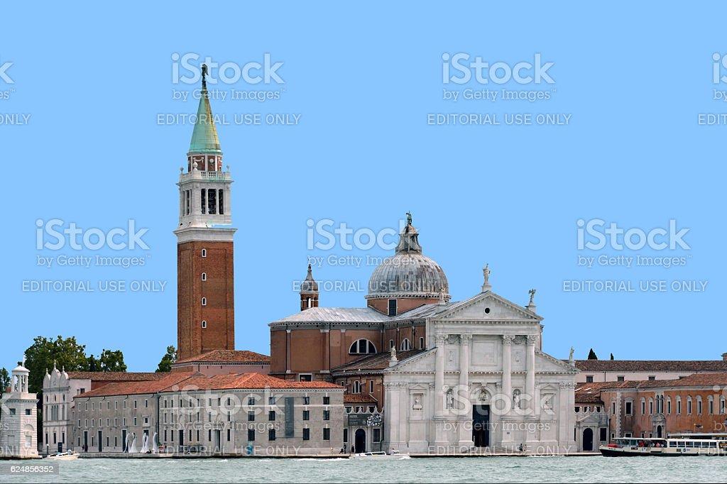 Island of San Giorgio Maggiore in Venice - Italy. stock photo