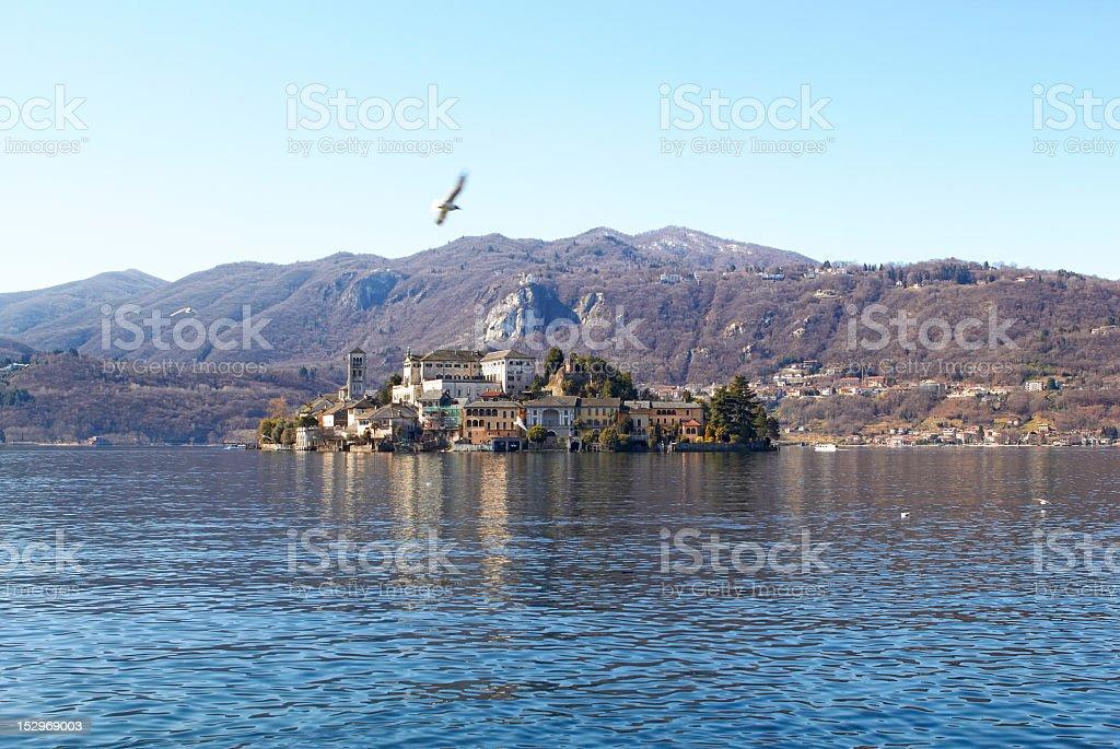 Island Of San Giulio royalty-free stock photo