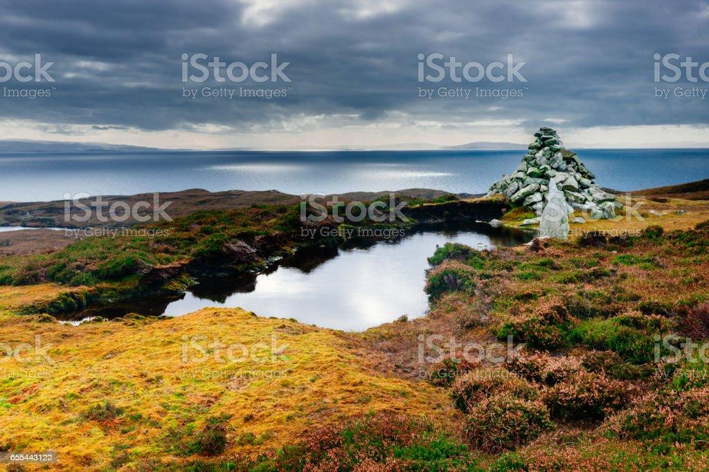 Island of Scalpay, Outer Hebrides, Scotland stock photo