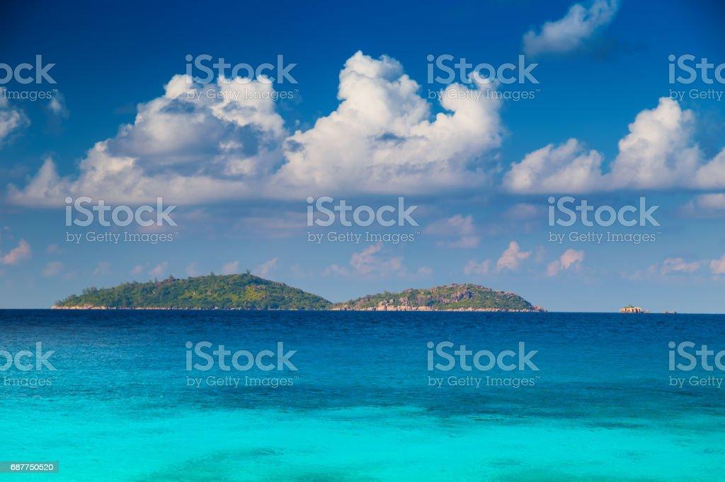 Island of Seychelles stock photo