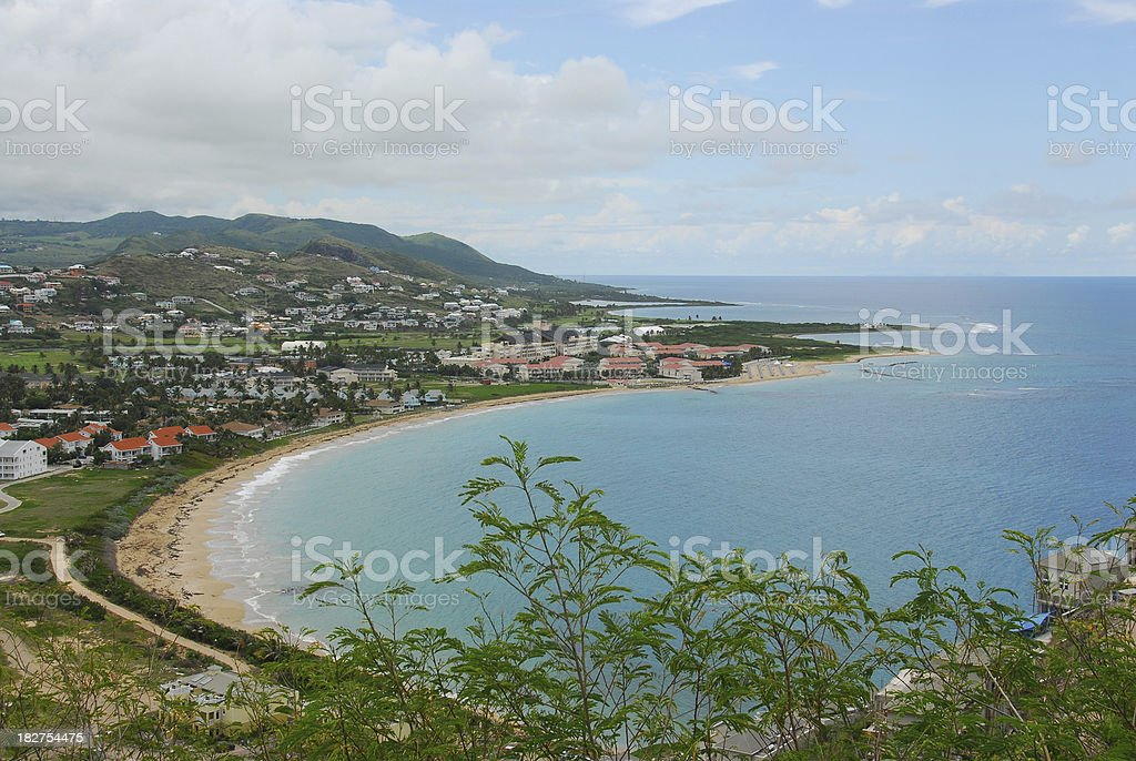 Island of St Kitts in the Caribbean royalty-free stock photo