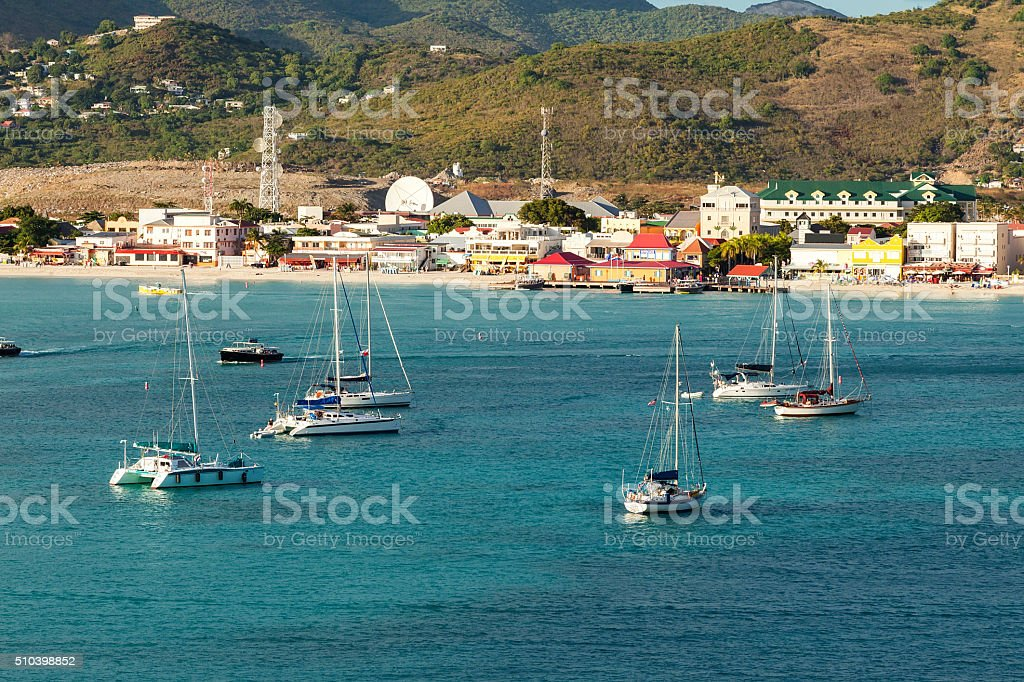Island of St. Maarten stock photo