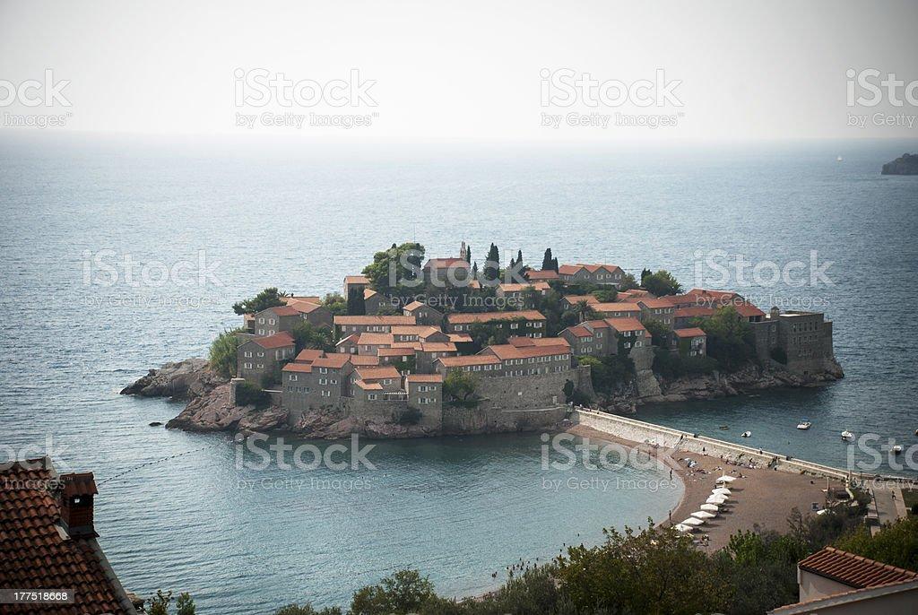 Island of ''Sveti Štefan'',Montenegro royalty-free stock photo