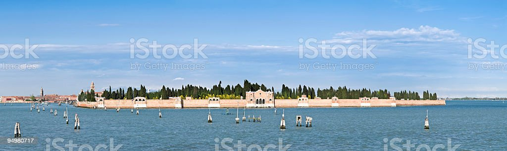 Island of the Dead Venice royalty-free stock photo