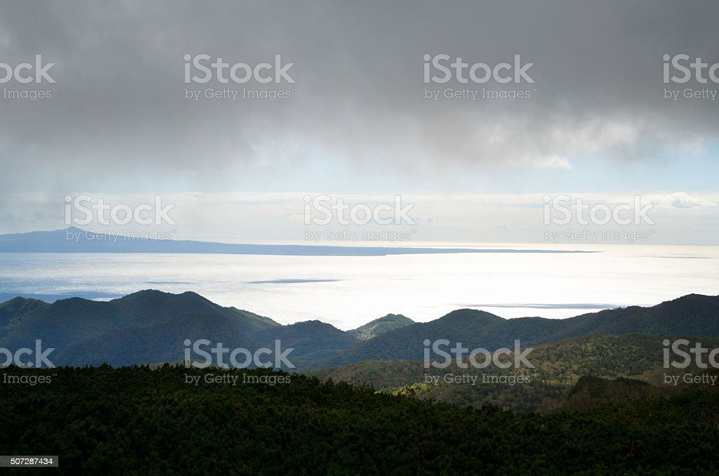 Island of the Northern Territories stock photo