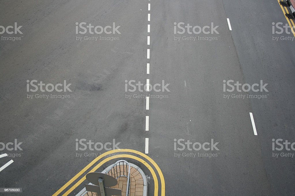 Island of the Road royalty-free stock photo